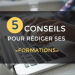 rediger cv formations