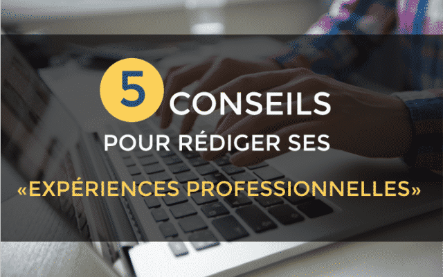 rediger experience professionnelle