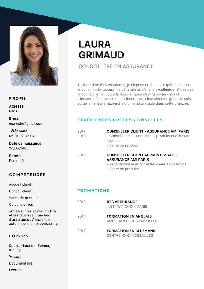 exemple CV assurance