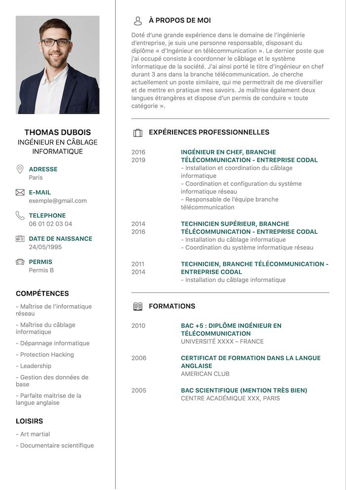 Exemple CV ingenieur