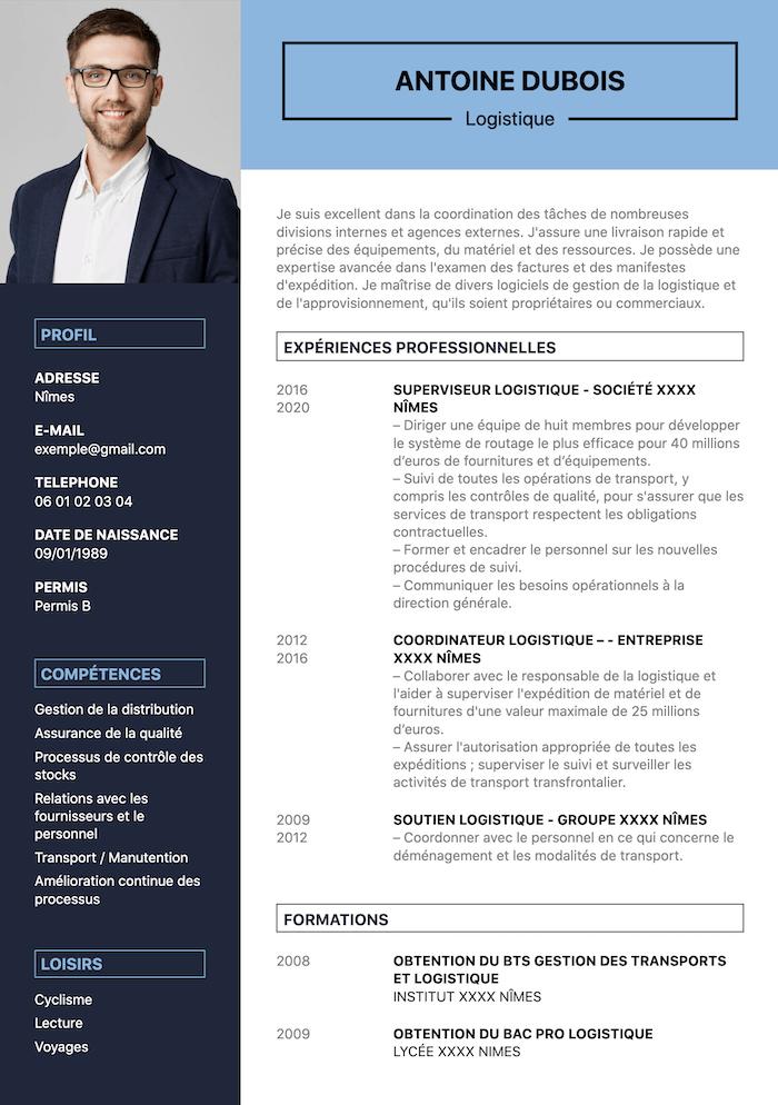 exemple CV logistique